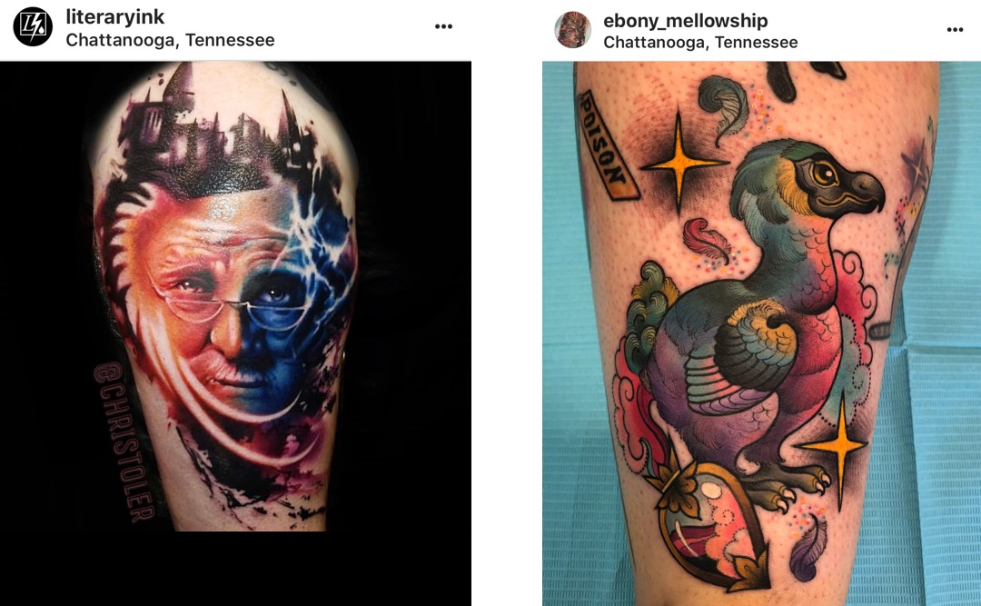 Chris Toler's Dumbledore tattoo