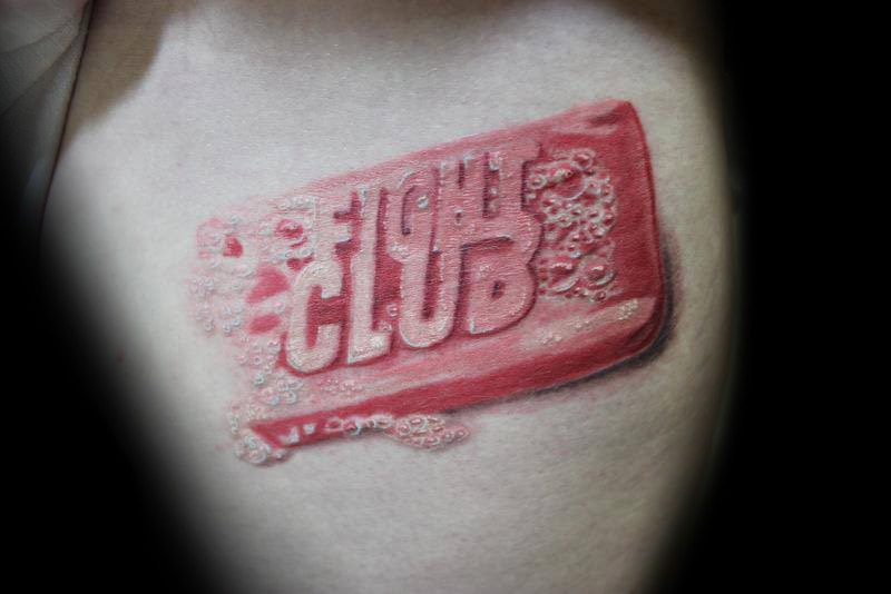 Fight Club tattoo by Dustin Quillen