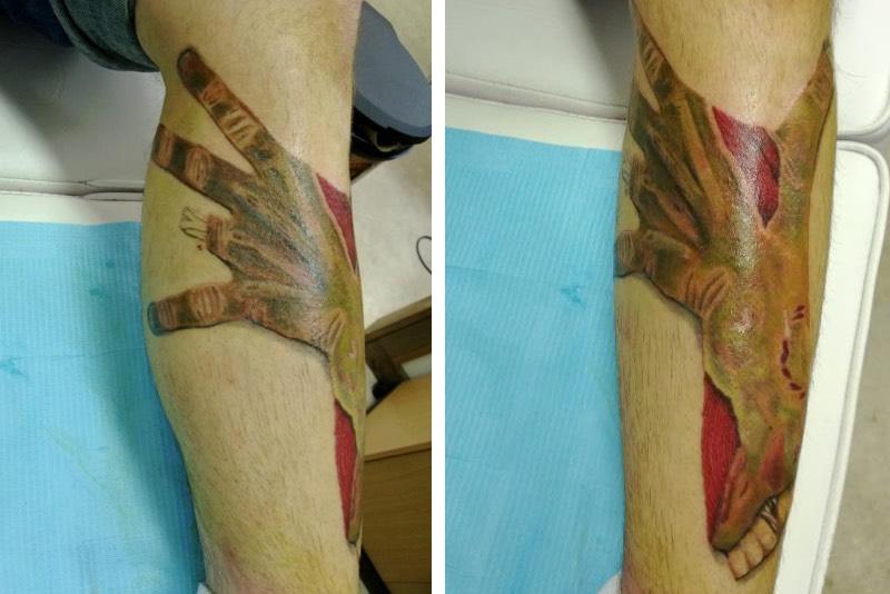 Dustin Quillen zombie tattoo
