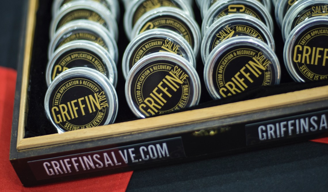 A box of Griffin Salve