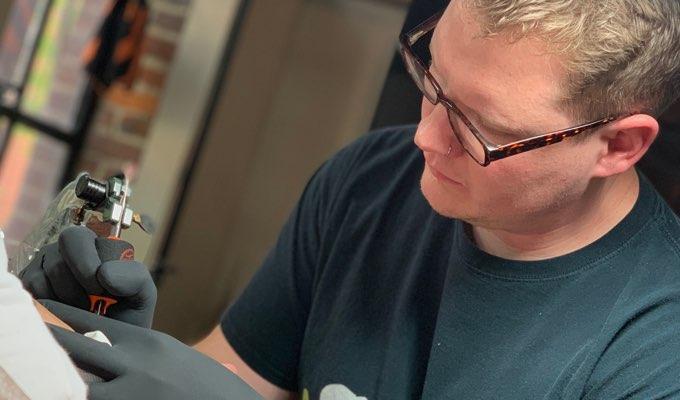 H&H Nashville tattoo artist Austin Modglin